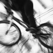 Biker in motion — Stock Photo