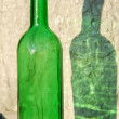 Green bottle and its reflection — Stock Photo #1416221