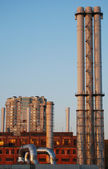 Chimneys in the city — Stock Photo
