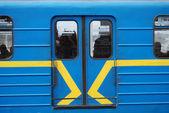 Subway train doors — Stock Photo