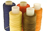 Five spools of thread — Stock Photo