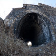 Deserted tunnel at old railroad — Stock Photo