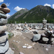 Stock Photo: Stone pyramids in Shumak valley