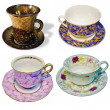 Stock Photo: Collage of images of cups