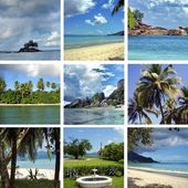 Collage of images of Seychelles — Stock Photo