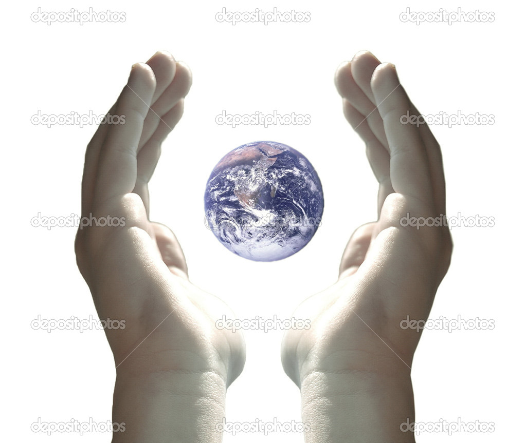 Earth in my hands — Stock Photo #1940304