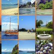 Collage Photos Seychelles — Stock Photo