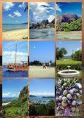 Collage Photos Seychelles — Stock Photo