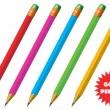 Vector de stock : Vector colored pencils.