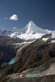 White summit and two lakes — Stock Photo