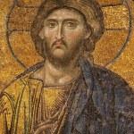 Mosaic of Jesus Christ at Hagia Sofia — Stock Photo