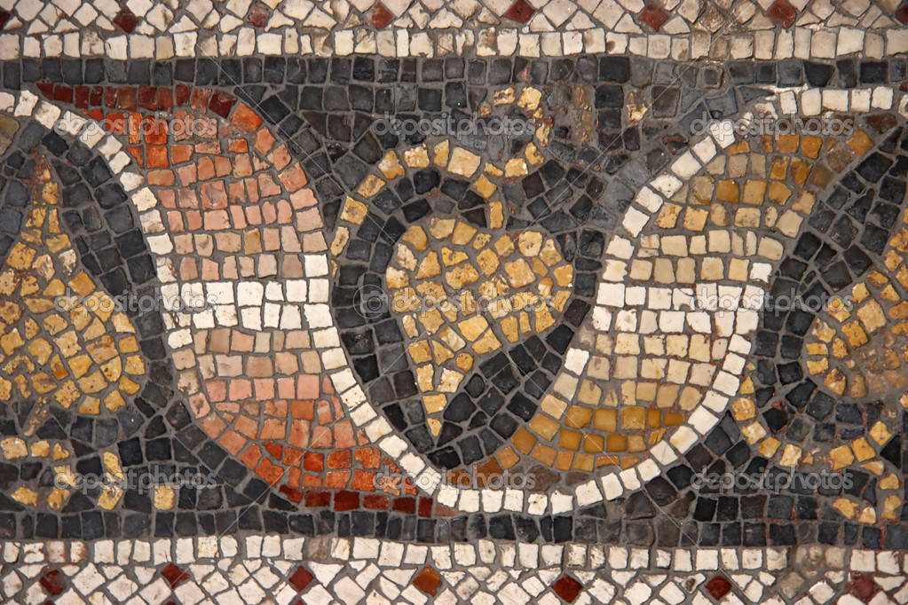Byzantine mosaic from Great Palace Mosaic Museum, Istanbul, Turkey.  Stock Photo #1146711