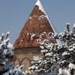 Mosque after a snowfall. Erzurum, Turkey — Stock Photo