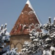 Stock Photo: Mosque after snowfall. Erzurum, Turkey