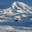 Stock Photo: Winter image of Mount Ararat, Turkey
