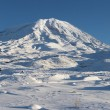 Stock Photo: Panoramic image of Mount Ararat in winte