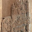 Carving on armenian church at Akdamar, T — Stock Photo