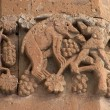 Carving on armenian church at Akdamar Is — Stock Photo
