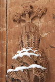 Floral stonework on Ishak Pasha Palace, — Stock Photo