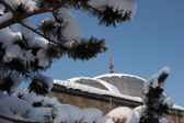 Mosque after a snowfall — Stock Photo