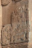 Carving on armenian church at Akdamar, T — Stock Photo