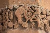 Carving on armenian church at Akdamar Is — Stock Photo