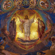 Jesus Christ mosaic in orthodox temple, - Stock Photo