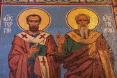 Apostles mosaic in russian orthodox chur — ストック写真