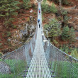 Suspension bridge in Himalaya, Nepal — Stock Photo #1213221