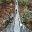 Stock Photo: Rope bridge in Himalaya, Nepal