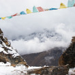 Prayer flags in Himalaya, Nepal — Stock Photo