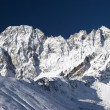 Stockfoto: Blue sky over mountains after snowfall,