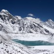 Mountain lake with Everest in background — Stock Photo