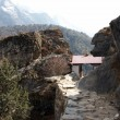 Stock Photo: Small buddhist temple at Everest trail,