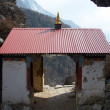 Stock Photo: Small buddhist temple at Everest trek, N