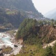 Dudh Kosi river, Everest trek, Himalayas — Stock Photo
