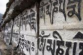 Buddyjski mani modlitwy kamienie, himalaje, n — Zdjęcie stockowe