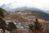 Namche Bazaar panorama, Everest trail, N — Stock Photo