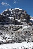 Rocky cliff of unclimbed Peak 5977, Hima — Stock Photo