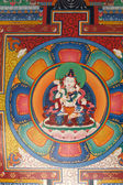Buddhist painting at ceiling of a gate, — Stock Photo