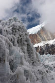 Steep ice wall at glacier tongue, Himala — Stock Photo