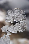 Natural ice shape resembling question si — Stock Photo