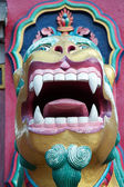 Buddhist lion guardian, Tengboche monast — Stock Photo