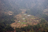 Nepalese village in Himalayas, Everest t — Stock Photo