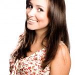schoonheid laughting jonge vrouw — Stockfoto