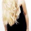 Blonde hairs of young woman — Stock Photo