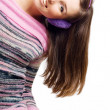 Happy beauty young woman with Headphones — Stock Photo #1072431