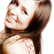 Portrait of a beauty young woman with br — Stock Photo