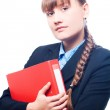 Business woman with folder — Stock Photo #1073392
