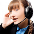 Call operator - Stock Photo